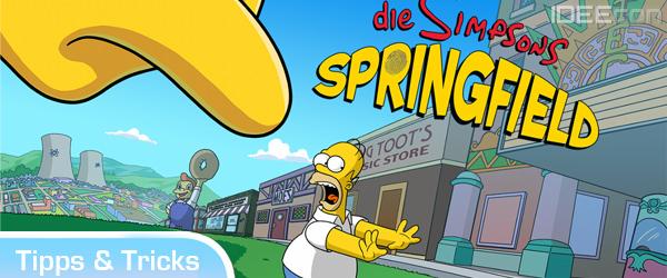 Die Simpsons Springfield App: Tipps, Tricks, Cheats – Freunde App