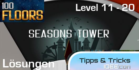 100 Floors Jahreszeiten Turm L 246 Sungen Level 11 12 13 14