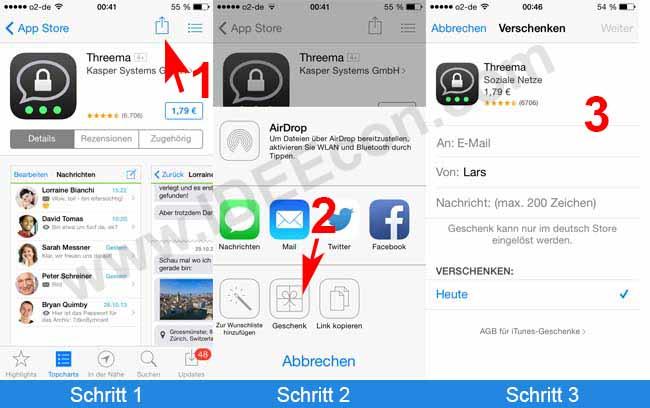 apps verschenken mit dem iphone oder ipad so geht s. Black Bedroom Furniture Sets. Home Design Ideas