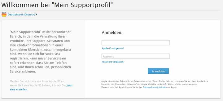 apple-mein-supportprofil-login-startseite