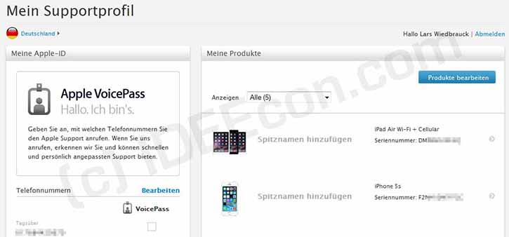 apple-support-profil-produkte-einstellungen