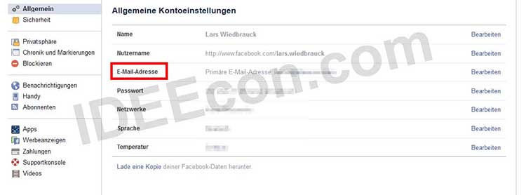facebook-profil-email-adresse-pruefen