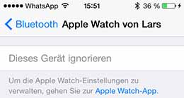Apple-Watch-ignorieren-einstellungen-bluetooth
