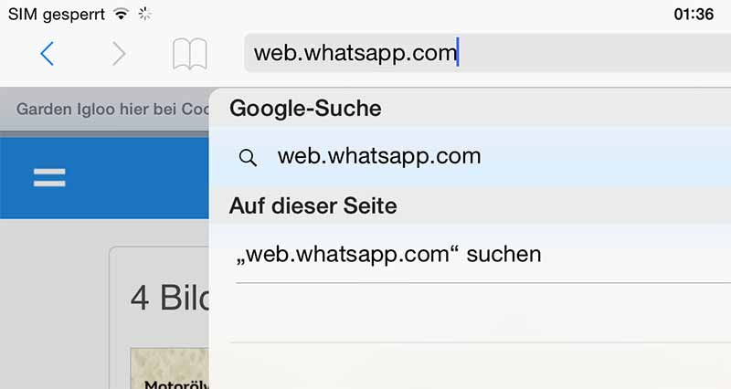whatsapp-web-browser-safari-eingeben