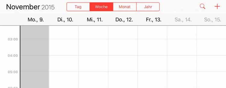 ipad-kalender-zeigt-sieben-tage-an