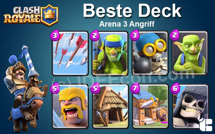 Clash Royale Deck Arena 3 attack