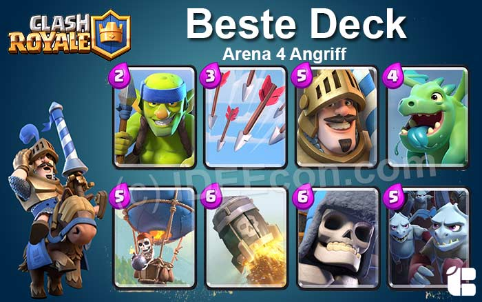 Clash Royale Deck Arena 4 attack