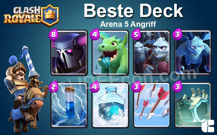 Clash Royale Deck Arena 5 attack