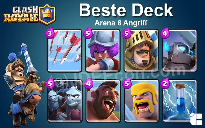 Clash Royale Deck Arena 6 attack