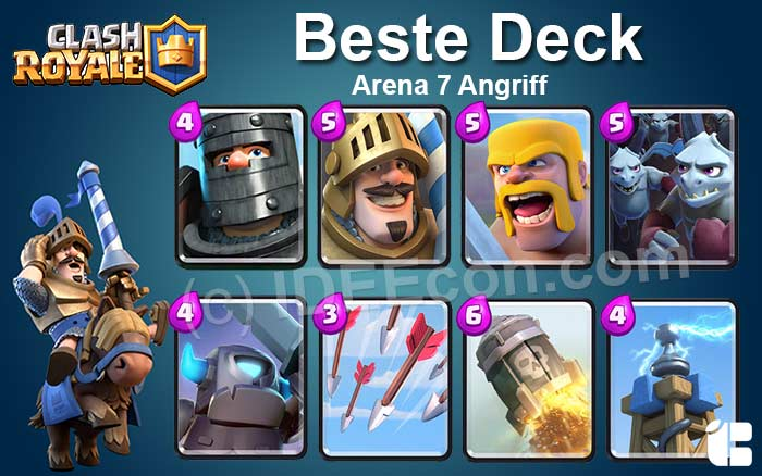 Clash Royale Deck Arena 7 attack