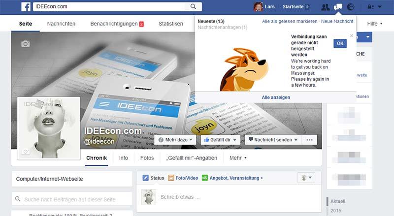 Verbindung-kann-gerade-nicht-hergestellt-werden-facebook-Fehlermeldung