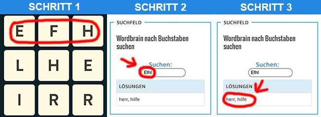 Wordbrain-Loesung-schnell-Finden-Anleitung