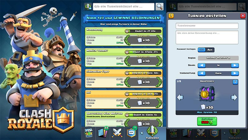Clash-Royale-Turniere-starten