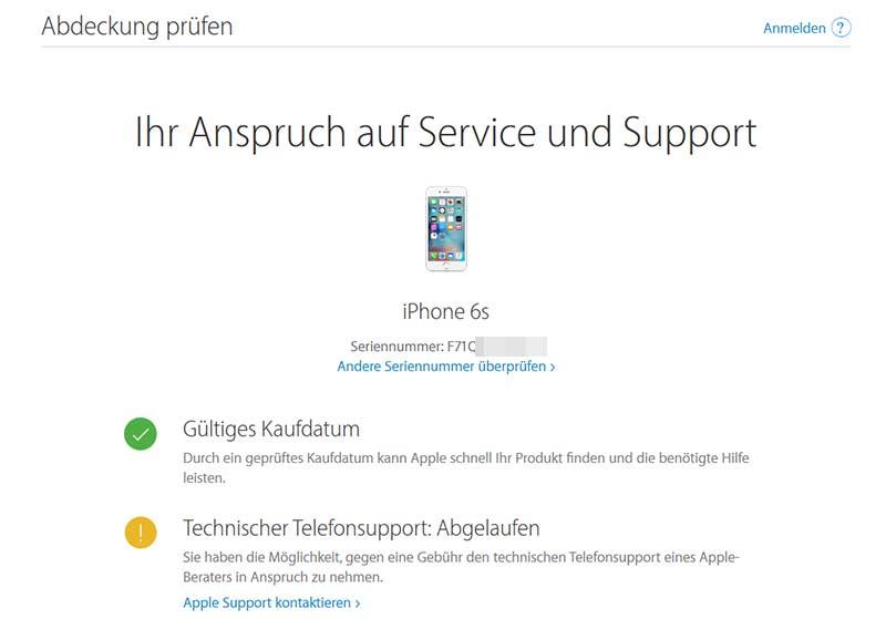 iPhone-Garantiestatus-pruefen