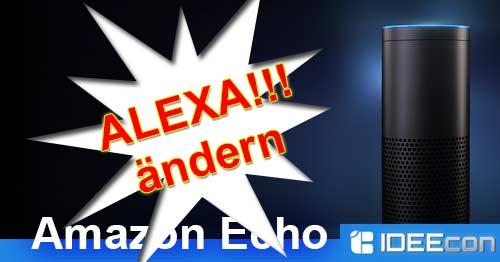 Alexa Name ändern