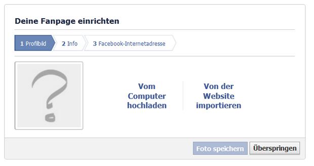 Anleitung Facebook Fanpage Erstellen Schritt 2 Foto hochladen