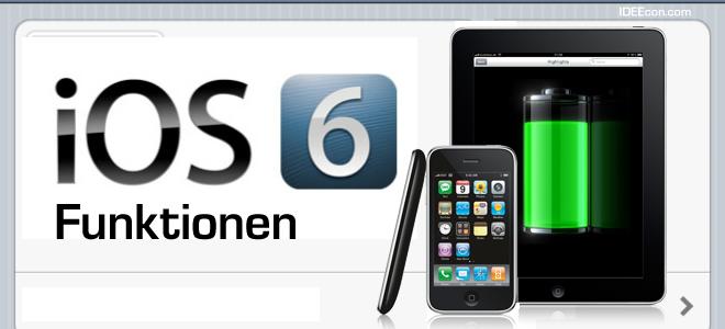 Apple iOS 6 Update Funktionen im Ueberblick