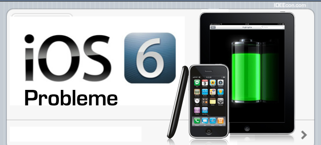 Appel iOS 6 Update Probleme iPad iPod iPhone 4 iPhone 4s Hilfe Lösungen iPhone 5 2012