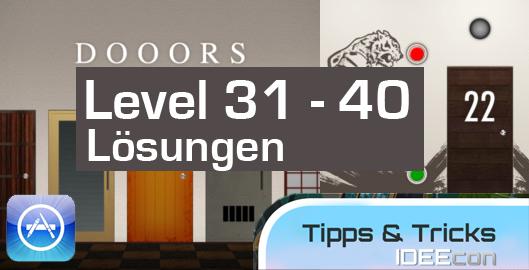 Dooors Level 31 32 33 34 35 36 37 38 39 40