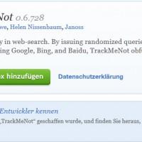 Heimlich surfen mit dem Firefox Plugin TrackmeNot