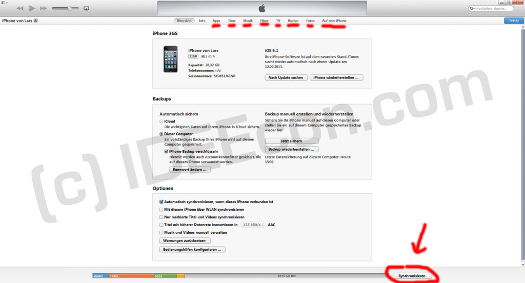 iPhone-itunes-übersicht