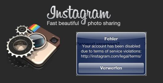 Instagram Account Gesperrt