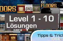 100 Floors Level 1, 2, 3, 4, 5, 6, 7, 8, 9, 10 Lösungen