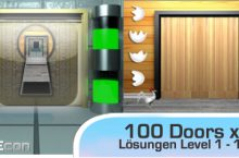 100 Doors X – Level 1, 2, 3, 4, 5, 6, 7, 8, 9, 10 Lösungen – iPhone, iPad, iPod, Android