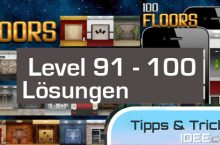 100 Floors Level 91, 92, 93, 94, 95, 96, 97, 98, 99, 100 Lösungen