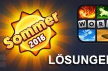 4 Bilder 1 Wort Sommer Lösung aller Level im Juni 2016