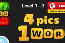 4 Pics 1 Word Lösung Level 1, 2, 3 Countries von Itch Mania – Android und iOS (iPhone)