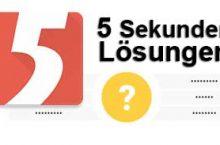 5 Sekunden Lösungen aller Folgen (Ebenen)