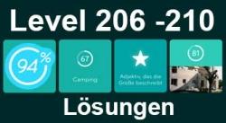 94% Level 206, 207, 208, 209, 210 Lösungen
