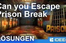 Can you Escape: PRISON BREAK Lösungen