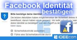 Facebook: Bitte bestätige Deine Identität – So geht´s
