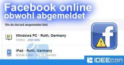 Facebook online obwohl abgemeldet. Das kann man tun…