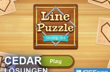 Line Puzzle String Art CEDAR Lösungen aller Level