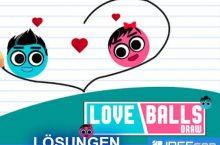 Love Balls Lösung aller Level mit 3 Sternen als Walkthrough