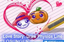 Love Story: Draw Physics Line Lösung aller Level mit 3 Sternen
