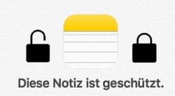 iPhone/iPad Notizen mit Passwort schützen – So geht´s