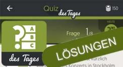 Quiz des Tages: Antworten & Lösungen täglich aktuell