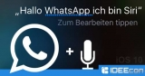 iOS 10: Siri in WhatsApp nutzen, um Nachrichten zu verschicken – so geht´s