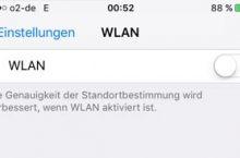 iOS 9: WLAN Schalter ausgegraut – was kann man tun?