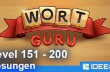 Wort Guru Level 151 bis 200 Lösung – einfache Suche