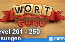 Wort Guru Level 201 bis 250 Lösung – einfache Suche