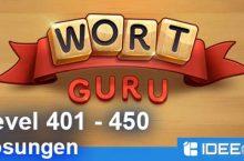 Wort Guru Level 401 bis 450 Lösung – einfache Suche