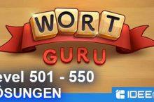 Wort Guru Level 501 bis 550 Lösung – einfache Suche