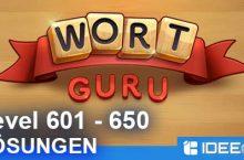 Wort Guru Level 601 bis 650 Lösung – einfache Suche