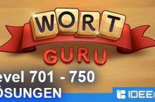 Wort Guru Level 701 bis 750 Lösung – einfache Suche