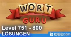 Wort Guru Level 751 bis 800 Lösung – einfache Suche